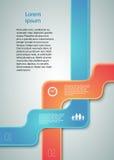 Affär report02 för presentation för mall för designbeståndsdelband Royaltyfri Foto