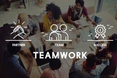 Affär Samarbete Teamwork Korporation begrepp Arkivbild