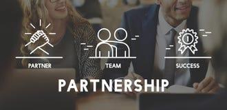 Affär Samarbete Teamwork Korporation begrepp arkivfoto
