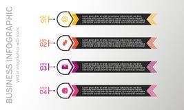 Affär som är infographic med symboler Affären diagrams, presentationer och diagram Det kan vara nödvändigt för kapacitet av desig Royaltyfri Foto