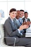 affär som applåderar lyckat internationellt folk royaltyfria foton