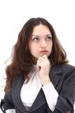 affär som isoleras över kvinna arkivfoto
