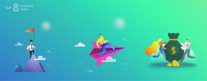 Affär som landar sidamallen vektor illustrationer