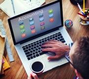 Affär som packar ihop online-begrepp för finansiell transaktion för betalning Arkivbilder