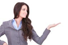 affär som presenterar kvinnan Arkivbild
