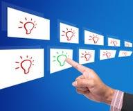 Affär som rekryterar idéer Arkivfoton