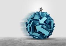 Affär som riktar ledarskap stock illustrationer
