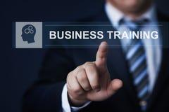 Affär som utbildar begrepp för teknologi för Webinar E-lärande expertisinternet royaltyfri bild