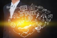 Affär, start, presentation, strategi och folkbegrepp arkivfoton
