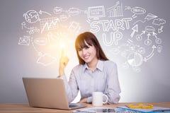 Affär, start, presentation, strategi och folkbegrepp Fotografering för Bildbyråer