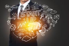 Affär, start, presentation, strategi och folkbegrepp arkivbild