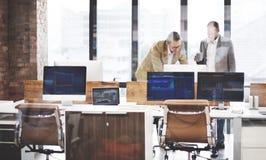 Affär Team Busy Working Workplace Concept Arkivfoton