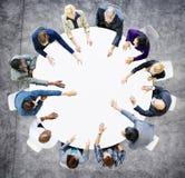 Affär Team Discussion Meeting Analysing Concept Arkivbild