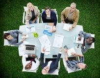Affär Team Discussion Meeting Analysing Concept Royaltyfria Foton