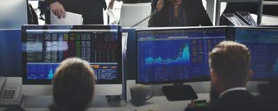 Affär Team Investment Entrepreneur Trading Concept Arkivfoto