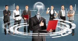 Affär Team With Lamp Head Arkivfoton