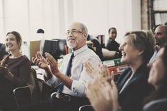 Affär Team Meeting Achievement Applaud Concept royaltyfri fotografi