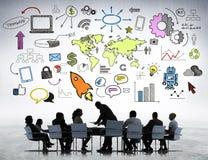 Affär Team Planning New Strategic Arkivfoto