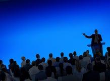 Affär Team Seminar Community Presentation Concept Arkivbild