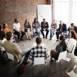 Affär Team Seminar Corporate Strategy Concept Royaltyfria Bilder