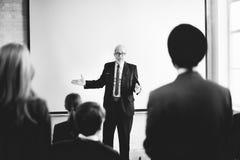 Affär Team Seminar Listening Meeting Concept Fotografering för Bildbyråer