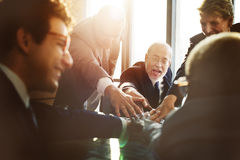 Affär Team Support Join Hands Concept Fotografering för Bildbyråer