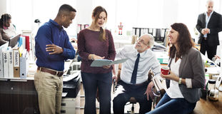 Affär Team Working Office Worker Concept royaltyfri fotografi