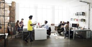 Affär Team Working Office Worker Concept Royaltyfri Bild