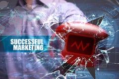 Affär teknologi Internet marknadsföring lyckad marketing Royaltyfri Foto
