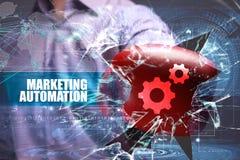 Affär teknologi Internet marknadsföring Marknadsföringsautomation Royaltyfria Foton