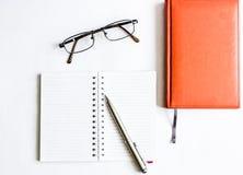 Affär utbildning, stilleben som arbetar eller planerar begrepp arkivbild