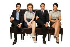 affären chairs fyra folk Royaltyfria Bilder