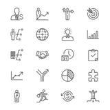 Affären gör symboler tunnare royaltyfri illustrationer