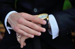 affären hands män Royaltyfri Bild