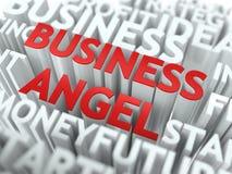 Affärsängel - Wordcloud begrepp Royaltyfria Bilder
