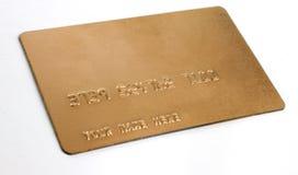 affärs-kort credit generisk guld Royaltyfri Bild