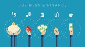 Affärs- och finansvektorbakgrund Arkivfoton