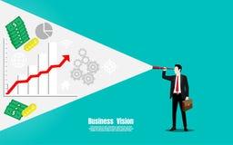 Affärs- och finansvisionbegrepp royaltyfri illustrationer