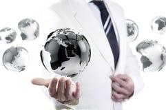 Affärs- och internetbegrepp Arkivfoto