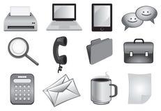 Affärs- och kontorssymboler Arkivfoto