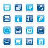 Affärs- och kontorsutrustningsymboler Arkivbilder
