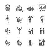 Affärs- och ledningsymbolen ställde in 6, vektorn eps10 royaltyfri illustrationer