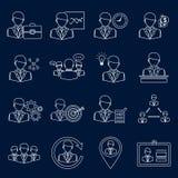Affärs- och ledningsymbolsöversikt Arkivbilder