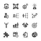 Affärs- och ledningsymbolsuppsättning, vektor eps10 royaltyfri illustrationer
