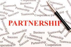 Affärsabstrakt begrepp - partnerskap arkivbilder