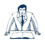 affärsaffärsmanconfe som gör presentation Vektor Illustrationer