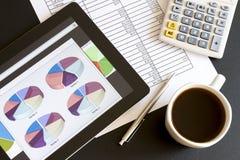 Affärsanalysering Arkivfoton