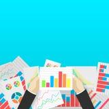Affärsanalytics och finansiell revision Fotografering för Bildbyråer