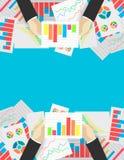 Affärsanalytics och finansiell revision Arkivbild