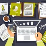 Affärsanalyticsworkpalce vektor illustrationer